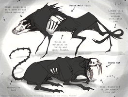 Death Wolf and Cat Ref Sheet by bezzalair