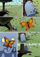 TL bot and Butterfly comic by Red-Revolver