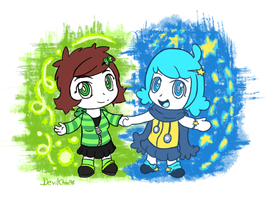 Fanart Gift: Meeting the new and old times! by Devilinchan94