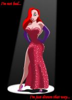 Jessica Rabbit--Colored by PadawanLinea