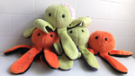 Halloween + Zombie Themed Octoplush by katiepox