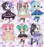DREAMY LOLITA ADOPTABLES closed by Lolisoup