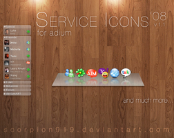 Service Icons '08 for adium by scorpion919