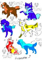 free canines adopts(all gone) by kittycat-adopts