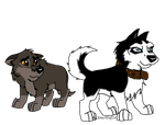 Balto and Steele as pups! by ArticWolf14