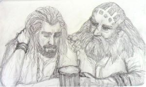 Thorin and Dwalin by selva-s