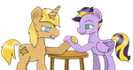 Arm wrestle by GummyTheMlpAlligator