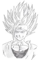 Gohan ss2 drawing by StaticFOOL100