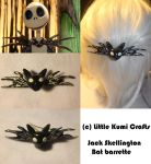 Jack's Skellington Bat Barrette by vklolita