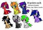 Adoptables by ghostshado13