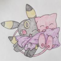 Mew And Umbreon Umbreon and Mew by lil...