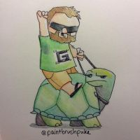 Guude and his Tortoise by paintbrushpuke