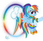 [4/6] SAILOR RAINBOW DASH by MeganLovesAngryBirds