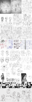 2013 Sketchdump Pt.1 [B+W] by Sylladexter