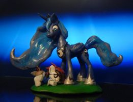 My Little Pony - Luna and Pip Squeak sculpt by Miki-