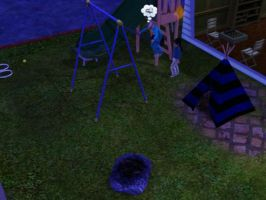 Sims 3 - I push Annasophia to give her a big swing by Magic-Kristina-KW