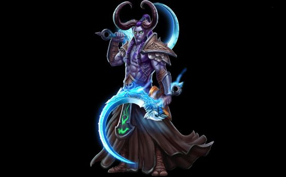 ...Commission: Night Elf Demon Hunter Kaiba... by ShadowPriest