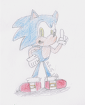 A Sonic Sketch by LuigiBroZ
