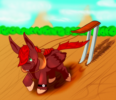 Rusty, the Hard Working Mule by Luckery
