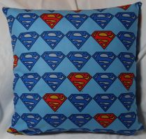 Superman Pillow 1 by quiltoni