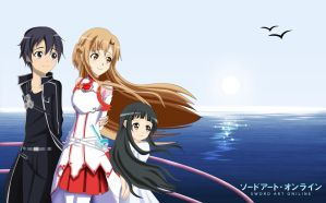 .: SAO : Beautiful Scenary at the Sea :. by Sincity2100
