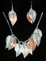 Spring Leaves - Necklace and Earring Set by Izile