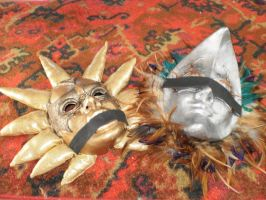 Voldo's Sun and Moon Masks by Lunnie
