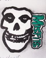 Misfits Skull And Logo by GrotesqueDarling13