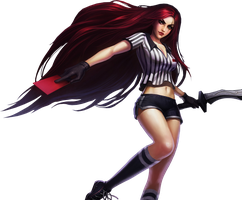 Red Card Katarina - Render by Gokunks