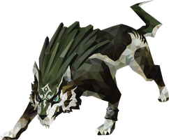 Polygon Art Wolf Link by wallacegamer