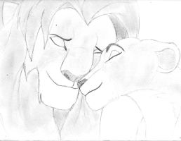 Simba and Nala by BryThatDrawingGuy