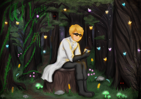 Duncan in Twilight Forest by panicoftheundead