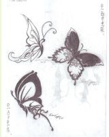 butterfly tattoos by HeartinStone