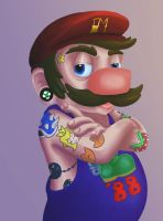 Cool Guy Mario by fantasy-please