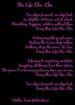 The Life Cha-Cha - Kyrielle Sonnet by CrazedByCalliope