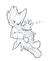 Ivo the hedgehog by KC0331