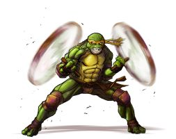 Michaelangelo by greenlantern