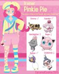 My Little Pokemon Trainer - Pinkie Pie by CaramelCookie