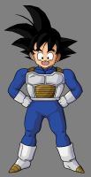 Goten In Saiyan Armor by hsvhrt