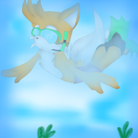 .: Tails Swimming :. R E Q U E S T by Nutella-Nekos