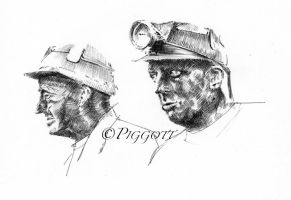Welsh Miners by GeraldPiggott
