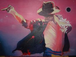 MICHAEL JACKSON AND PLANETS. OIL ON CANVAS by TonyNapolitano