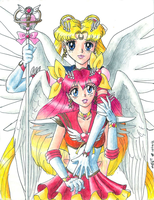 Sailormoon and Sailorpeach by AmethystSadachbia