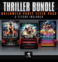 Thriller Halloween Party Flyer Bundle by AnotherBcreation
