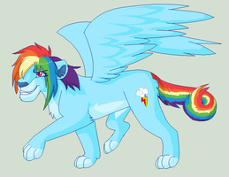 RainbowDash Lioness by Kainaa