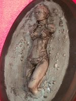 leia in carbonite by spectrestudios