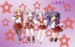 Lucky Star Wallpaper Test by X16Phoenix