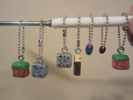 minecraft keychains by takory