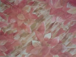 Red flowers on Brown Striped Background by DemonRed6