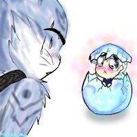 Jack Frost in an Egg by HezuNeutral